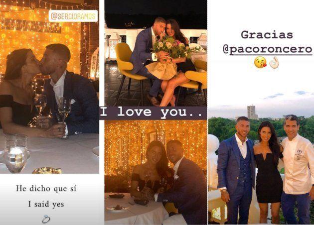 Sergio Ramos pide matrimonio a Pilar