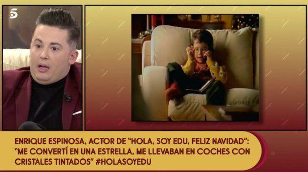 Enrique Espinosa, protagonista del anuncio de 'Hola, soy