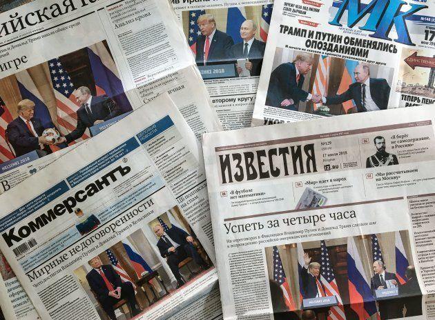 La prensa rusa de hoy, con la cumbre Trump-Putin en