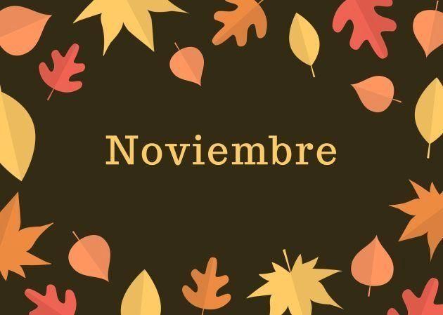 Mes de noviembre de