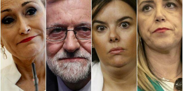 Cristina Cifuentes, Mariano Rajoy, Soraya Sáenz de Santamaría y Susana