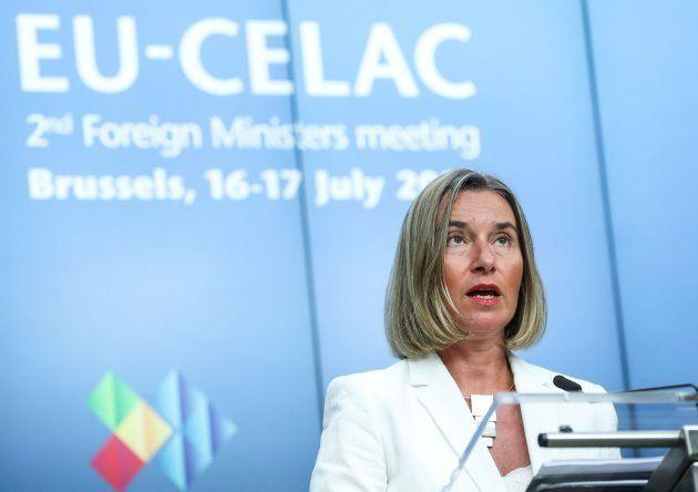 La alta representante de la Unión Europea (UE) para la Política Exterior, Federica Mogherini, ha pedido...