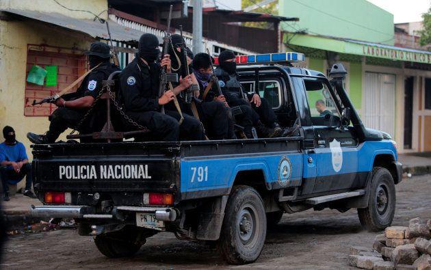 Fuerzas del cuerpo de policía del país en la ciudad de