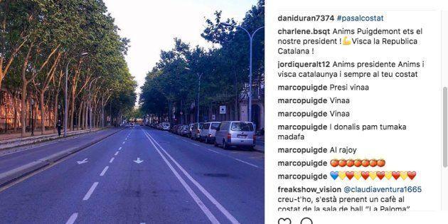 Puigdemont publica una foto cercana Parlament antes del pleno de