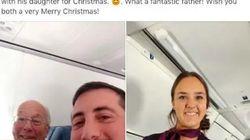 Esta azafata tenía que trabajar en Navidad... Y su padre encontró la forma perfecta para estar con