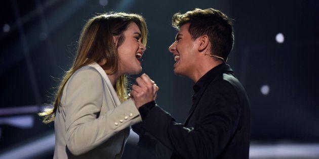 Amaia y Alfred, durante la gala de 'Operación Triunfo' para elegir el representante español en Eurovisión