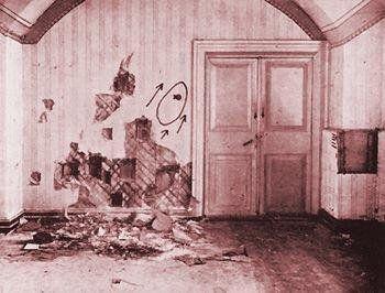 Habitación donde fue ejecutado el zar y su familia, el 17 de julio de 1918. /Cortesía Páginas de