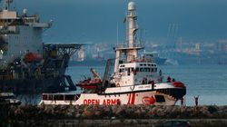 La llegada del Open Arms a Algeciras, en
