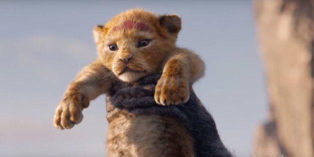 Una imagen de 'El rey León'
