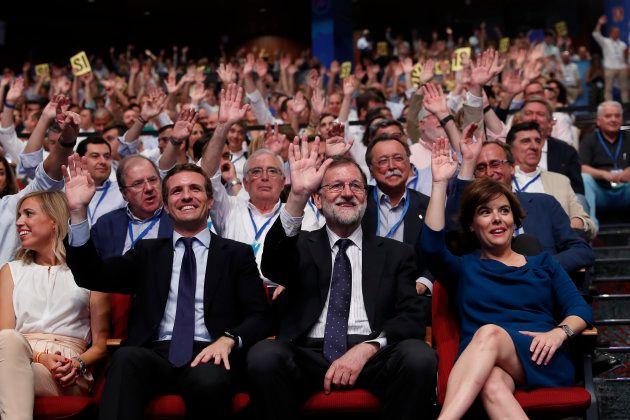 Casado, Rajoy y Sáenz de