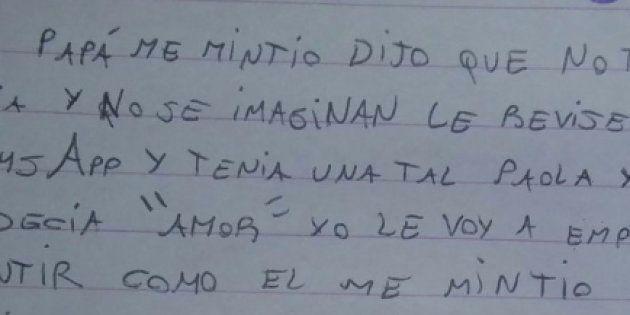 Carta de Candela a su padre tras descubrir en WhatsApp que tiene