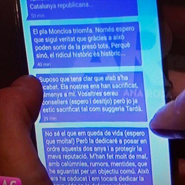 Puigdemont, en un mensaje de móvil: