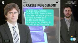 """🔴 EN DIRECTO- Puigdemont reconoce que los mensajes son ciertos: """"Soy humano y hay momentos en que también yo"""