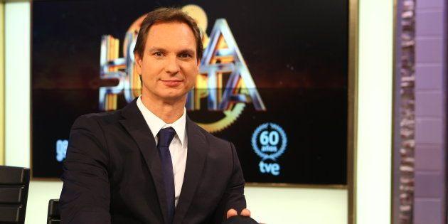 El presentador Javier Cárdenas durante la presentación del programa 'Hora Punta', en