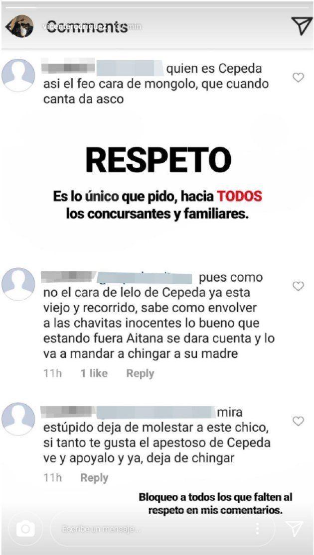 Polémica por un mensaje de Cepeda supuestamente dirigido al novio de