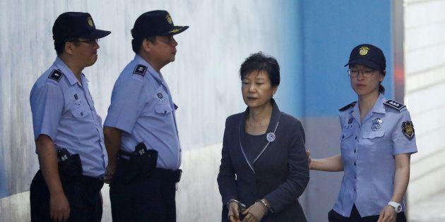 Park Geun-hye, llegando a la corte el pasado agosto, escoltada por la