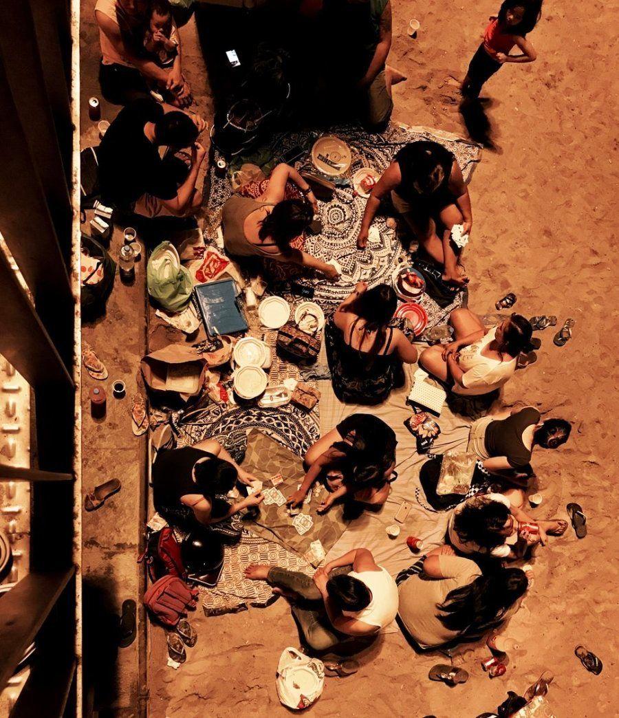 Tercer puesto. 'Noche en la playa'. Barcelona, España. Con un iPhone 7