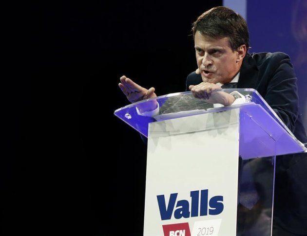 Imagen del candidato a la alcaldía de Barcelona y ex primer ministro francés, Manuel Valls. EFE/