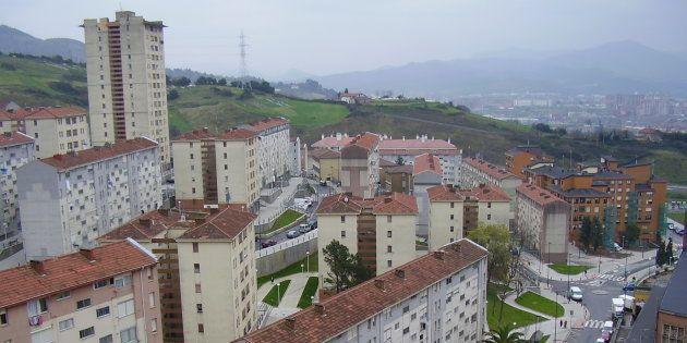 Vista del barrio de una zona del barrio de