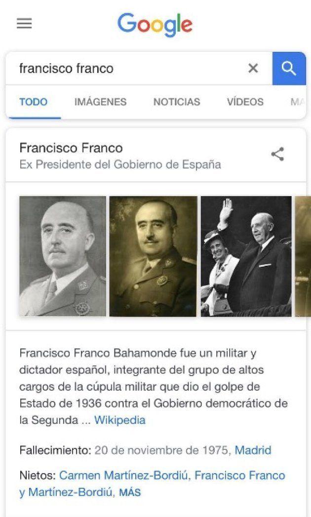Estupefacción por lo que aparece en Google al poner