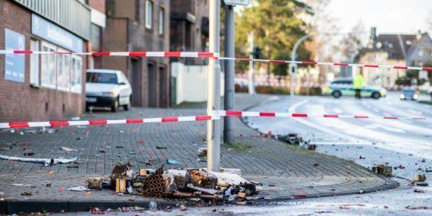 Las escena del atropello, en la ciudad alemana de