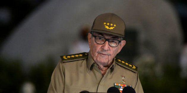 El secretario del Partido Comunista de Cuba y hermano de Fidel, Raúl