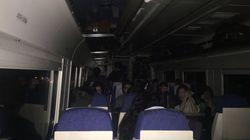 180 pasajeros del tren extremeño, tirados de noche en mitad del