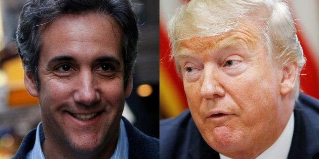 El abogado Michael Cohen y el presidente de EEUU, Donald Trump, en sendas imágenes de