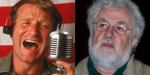 Robin Williams, encarnando el papel del mítico locutor, y Adrian