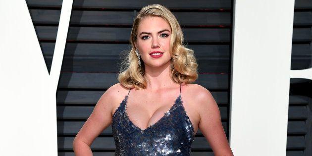 Kate Upton, en la fiesta 'Vanity Fair' tras los Oscar el 26 de febrero de