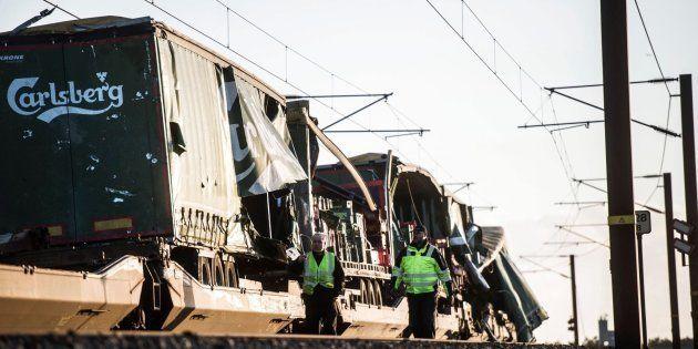 Accidente de tren en el puente del Gran