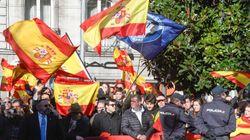 Tensión entre insultos y banderas en la celebración de la Toma de