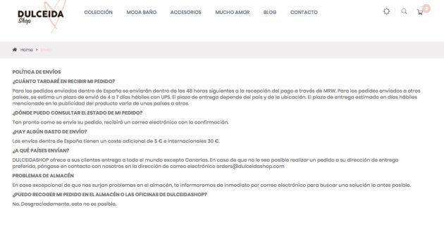Indignación entre los canarios por la política de envíos de la web de