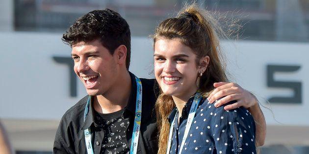 Alfred GarcÍa y Amaia Romero, durante un evento de Eurovisión 2018 el 10 de mayo de 2018 en