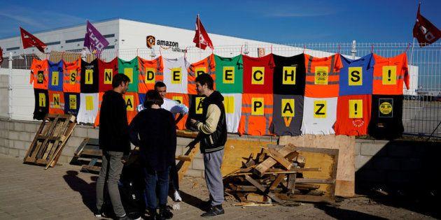 Huelga de trabajadores de Amazon en San Fernando de