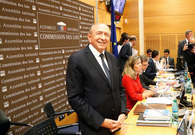 Gerard Collomb, durante su comparecencia de hoy en la Asamblea