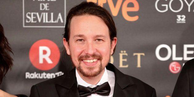 Pablo Iglesias, en la alfombra roja de la 32ª edición de los Premios