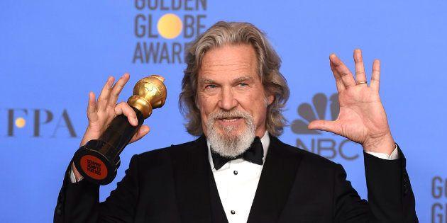 Jeff Bridges, con el Globo de Oro a toda su