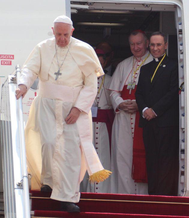 Llegada del Papa Francisco a