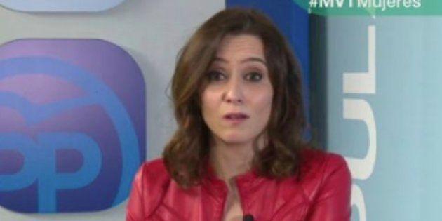 Isabel Díaz Ayuso, responsable de comunicación del