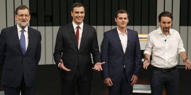 Rajoy, Sánchez, Rivera e