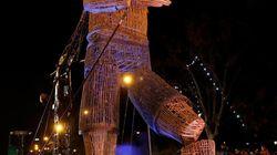 El gigante Mo conquista a todo el mundo en la cabalgata de los Reyes Magos de