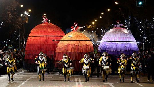 La cabalgata de los Reyes Magos en Madrid, en