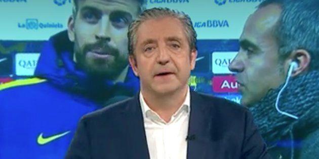 Pedrerol afea a Piqué sus críticas contra el Espanyol y se lleva el 'cortazo' de su