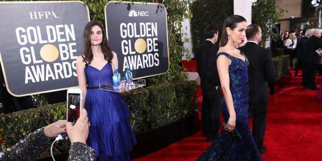 La actriz Camilla Belle, posando en los Globos de Oro