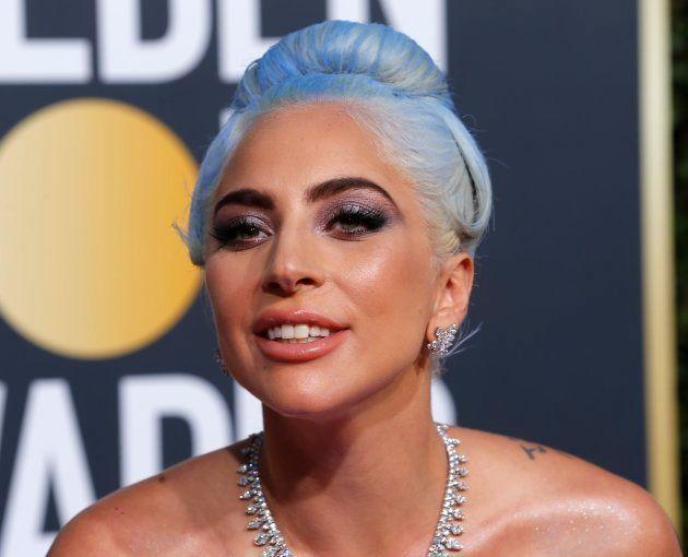 La cantante Lady Gaga, en los Globos de Oro