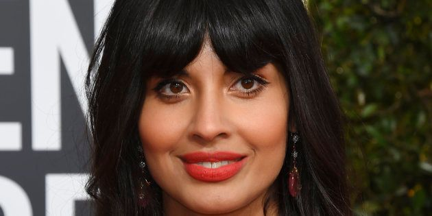 La actriz Jameela Jamil, en los Globos de Oro