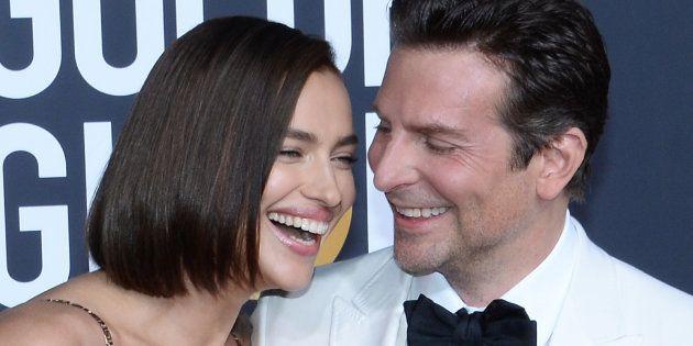 Irina Shayk y Bradley Cooper, en los Globos de Oro