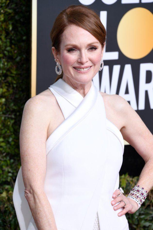 Emma Stone, Julianne Moore, Charlize Theron... : las pulseras Time's Up inundan la alfombra roja de los...