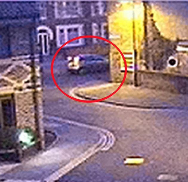An old-style silver Ford Focus hatchback (above, circled) was shown on CCTV taken the day after Claudia...